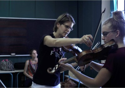Professor Zgraggen teaching student Elisabeth Horn from Germany