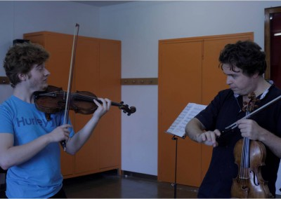 Professor Ostrovsky teaching student Jacabo Christensen from Spain